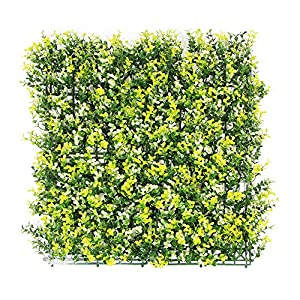 ULAND Artificial Hedges Panels, Outdoor Greenery Ivy Privacy Fence Screening, Home Garden Wedding Decoration 1