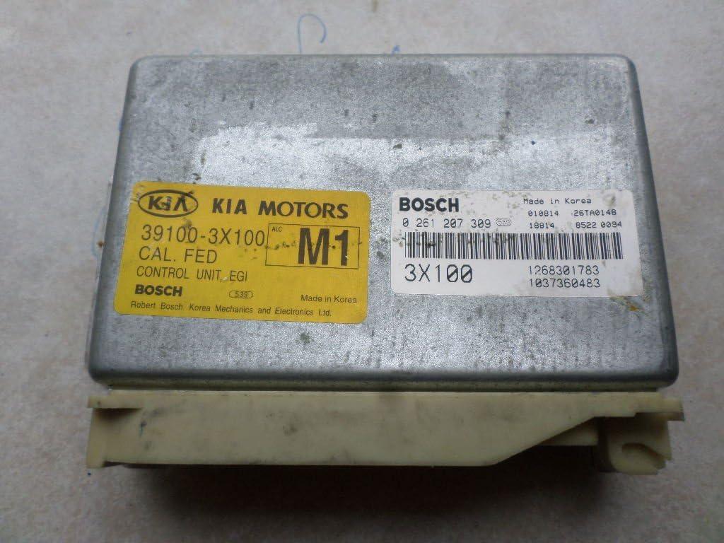 2001 KIA SEPHIA ECU 1.8L ATMT 39110-2Y100 ECM 0 261 207 050 ENGINE COMPUTER ENGINE