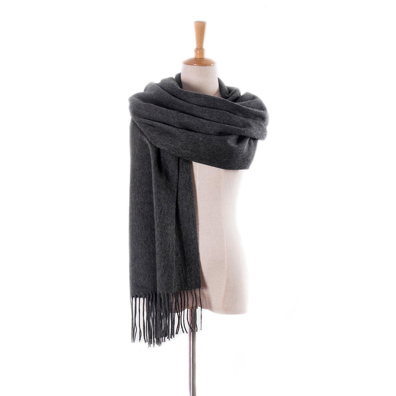 BaronHong Womens Tassels Lambswool Scarf Winter Large Wrap Shawl