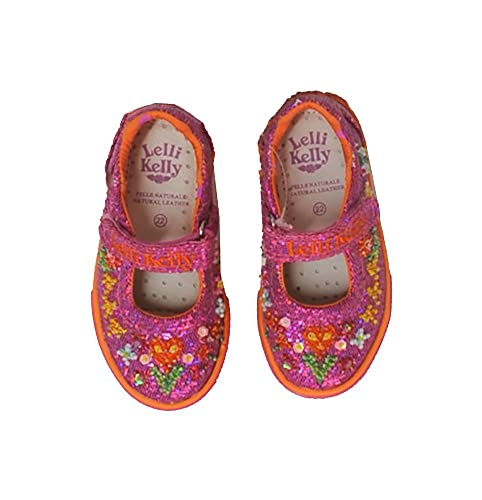 848aafa0303 Lelli Kelly Fuchsia Glitter Pixie Mary Jane Shoes LK8128 (Toddler   Youth)  (27