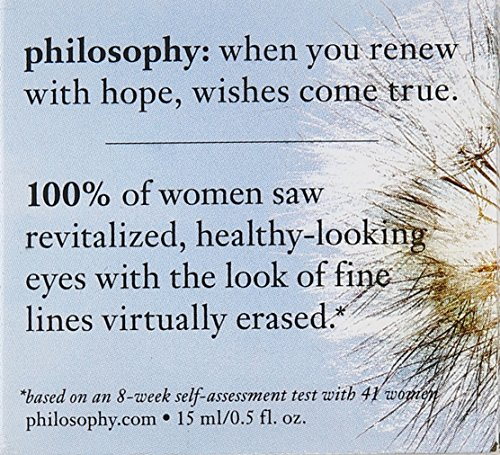 Philosophy Renewed Hope In A Jar Eye Cream for Unisex, 0.5 Ounce