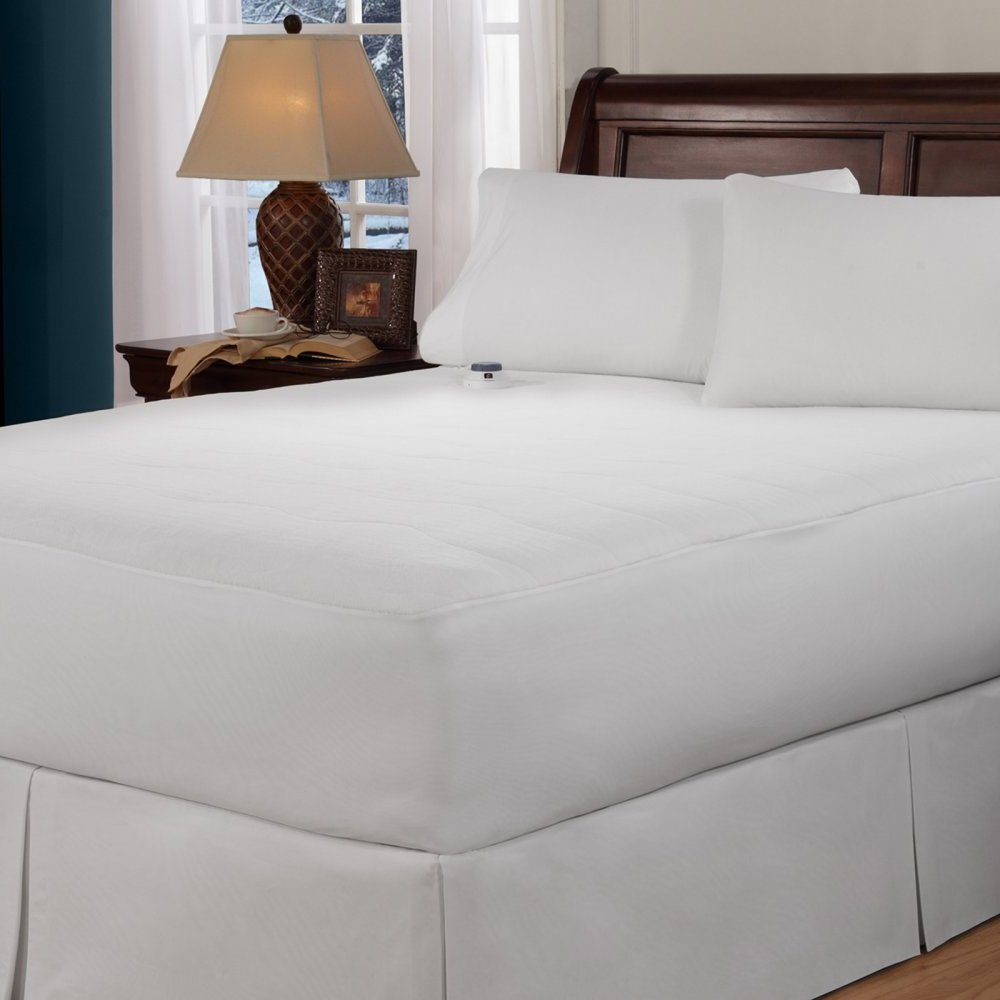 Mattress Pad. Invisiwire Technology, Low Voltage Micro-velour Fabric Top Topper Pillow. Provides Warmth Comfort And Safety With Automatic Preheat & Over-temperature Protection. (Cal King)