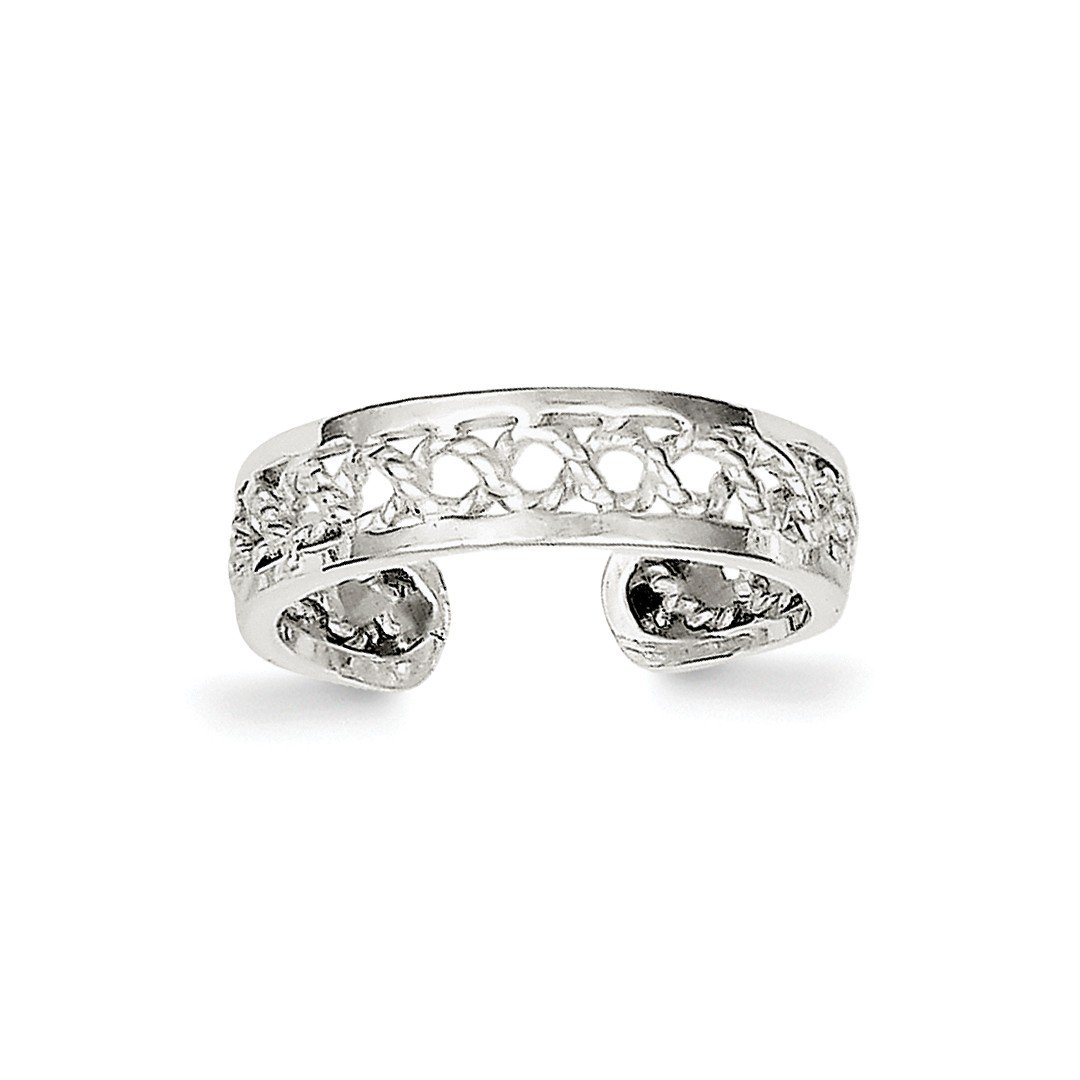ICE CARATS 925 Sterling Silver Solid Adjustable Cute Toe Ring Set Fine Jewelry Ideal Gifts For Women Gift Set From Heart