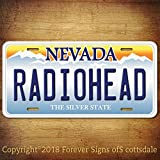 Radiohead Rock Band Nevada Aluminum Vanity License Plate Tag