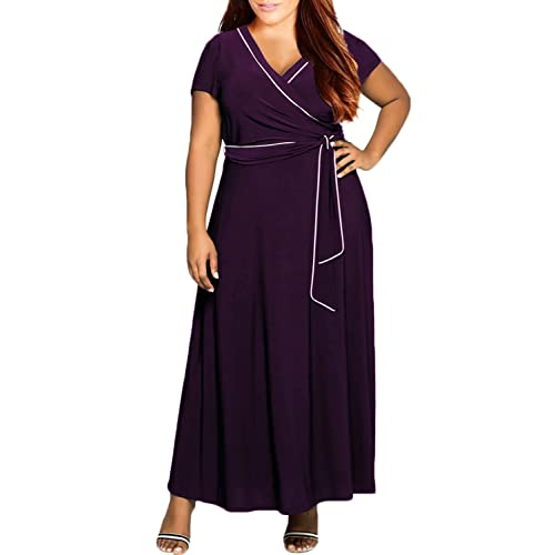 Purple Plus Size Maxi Dresses
