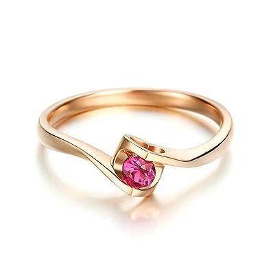 cda2d1036964 Epinki Anillo de Diamantes para Mujer Oro de 18 quilates Anillos (Au750)