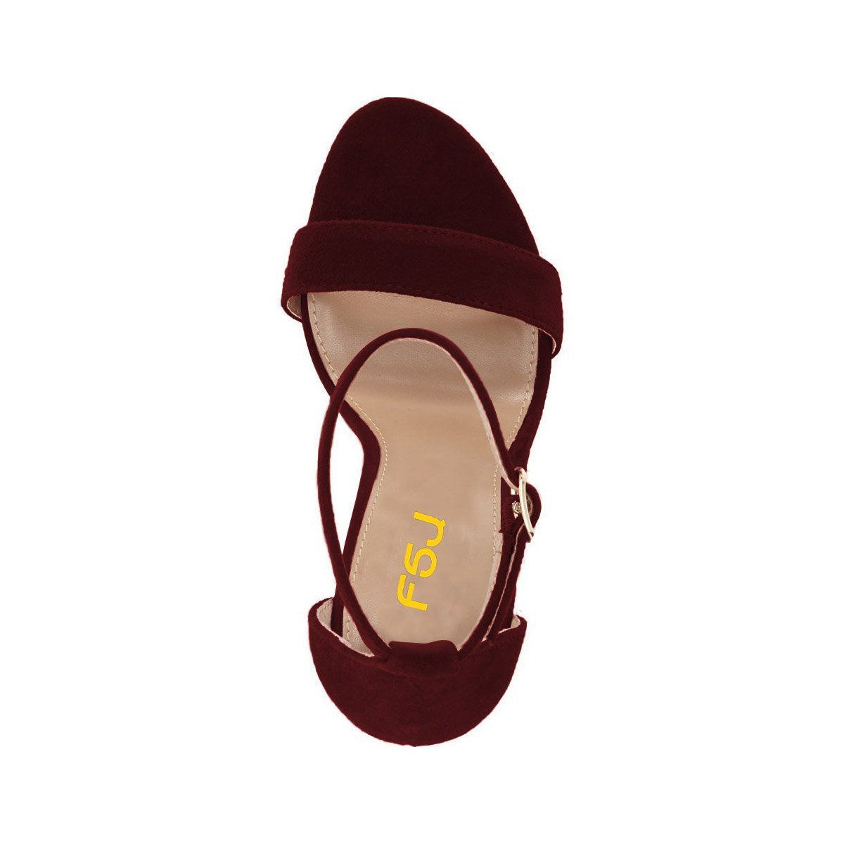 0c2972f3c71 FSJ Women Classic Chunky High Heel Sandals Open Toe Ankle Strap Single Band  Dress Shoes Size 4-15 US
