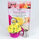 Nifty Nozzles 10 Petal Rose Flower - Made of Food Grade Stainless Steel - Sold as 1 Each