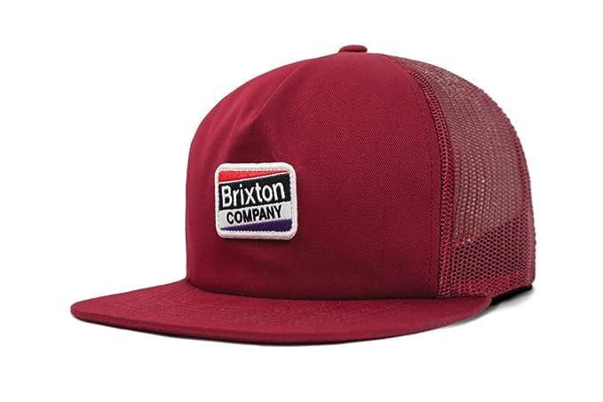 Amazon.com  Brixton Men s Worden Medium Profile Mesh Adjustable Hat ... 59b4899dab10