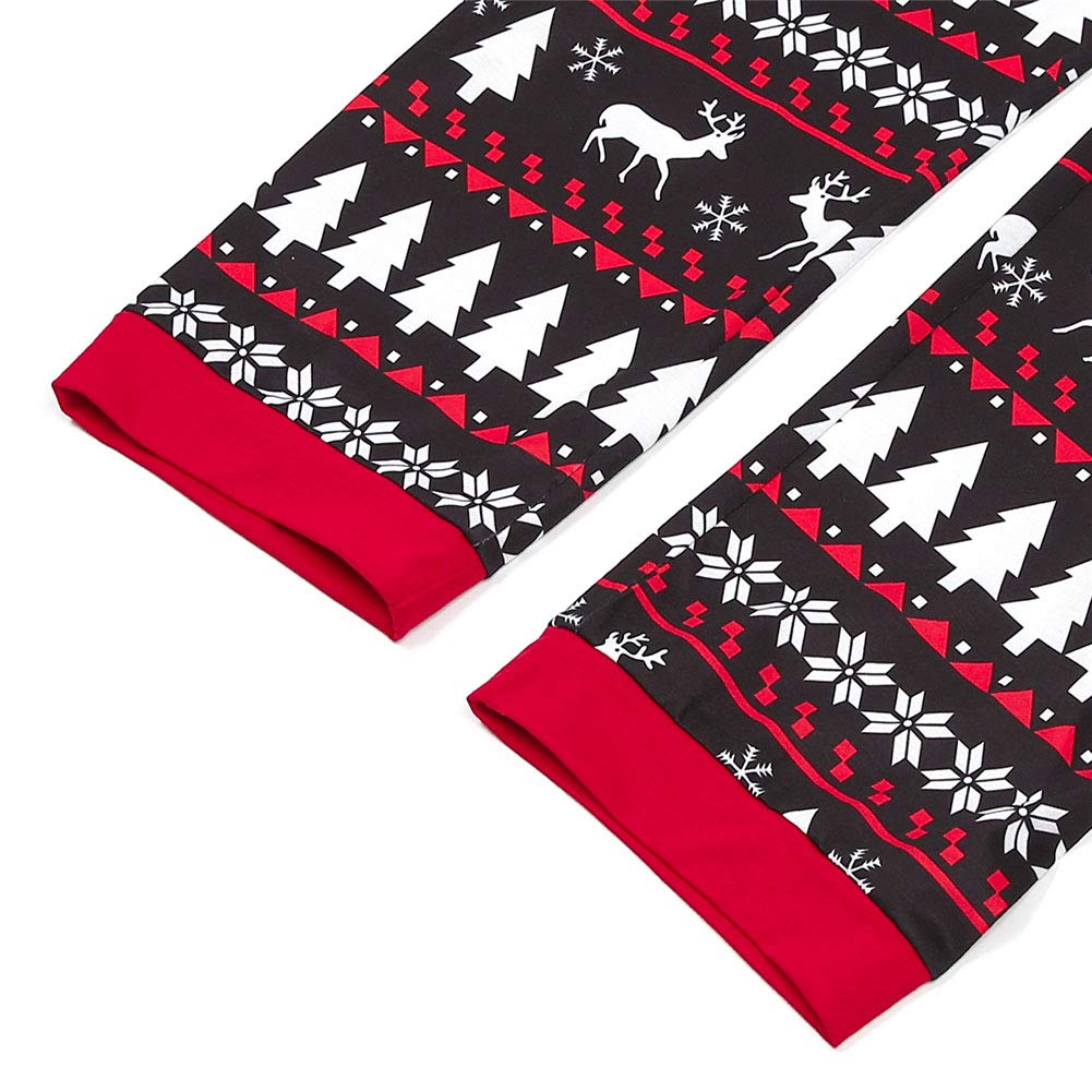 Holiday Family Matching Christmas Set Hat Tree Reindeer Parent-Child Pjs Xmas Homewear Outfit