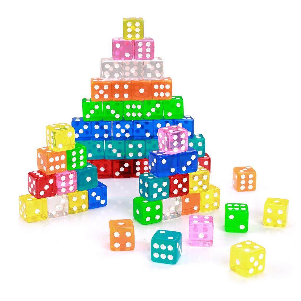 Hongyantech 8 colori gioco dadi dadi set colorato 16 mm dadi set colorato 6 lati (40 pezzi)