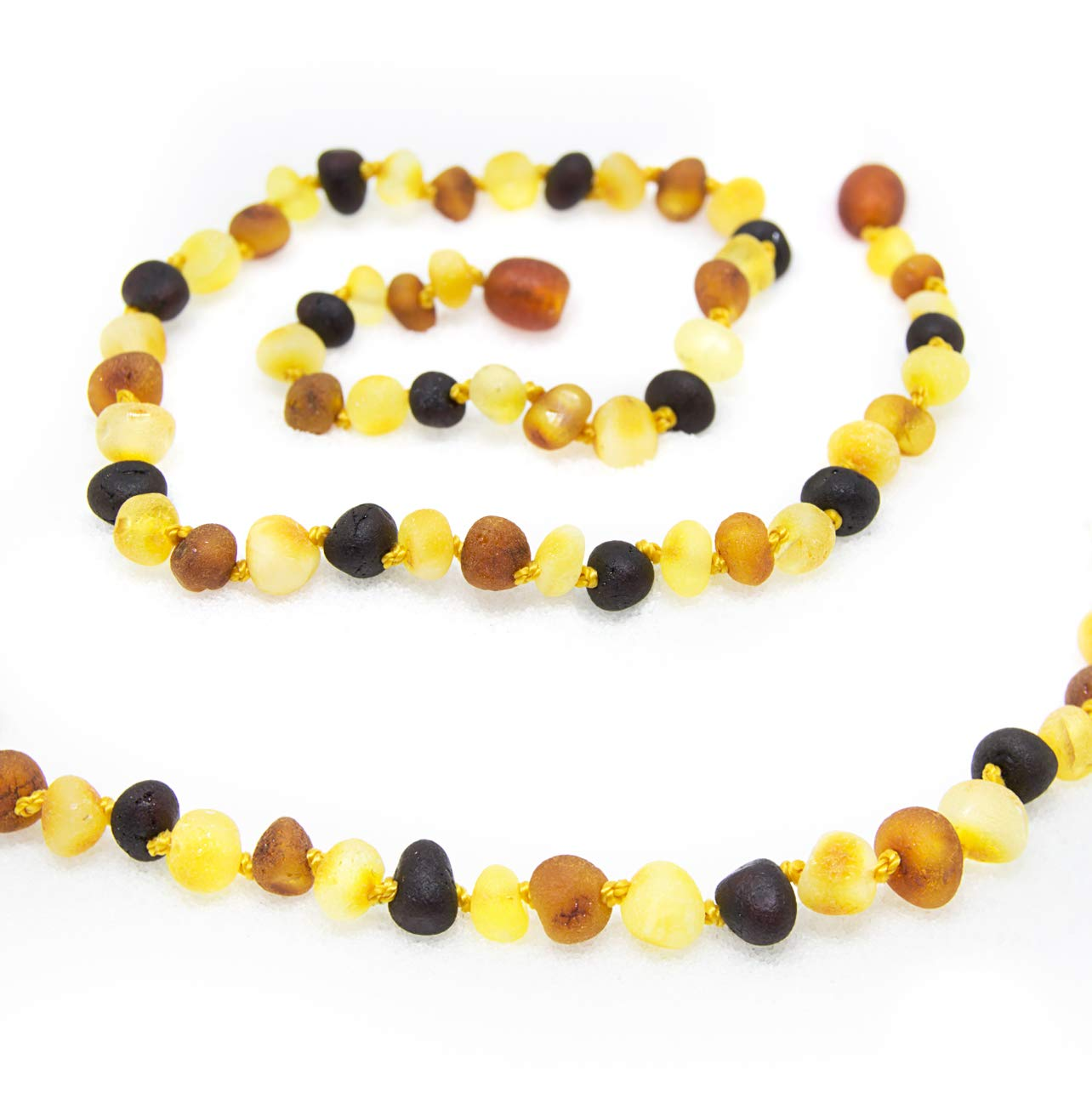 The Art of Cure Baltic Amber Necklace 17 Inch (raw multicolored) - Anti-inflammatory by The Art of Cure