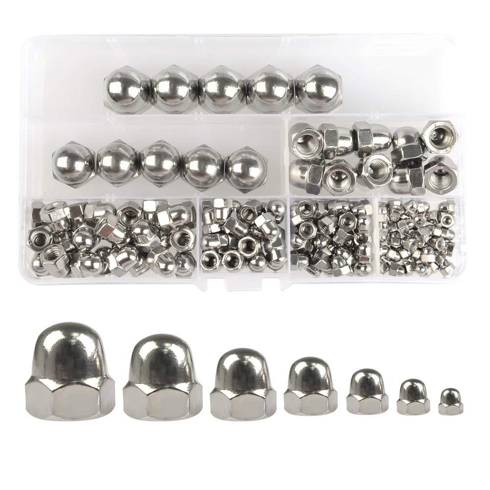 10 tuercas hexagonales de acero inoxidable 304 M3-M12 para tuercas de ma/íz decorativas