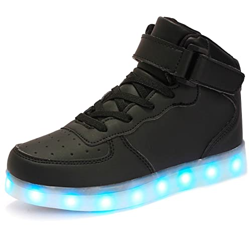 9cdd10276c24f FLARUT Kids LED Light Up Shoes Boys Girls High Tops School Sneakers  Christmas Party Dancing