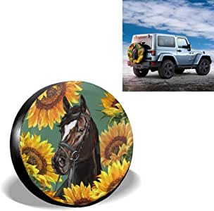 Spare Tire Cover Sunflower Universal Sunscreen Waterproof ...