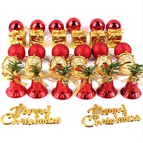 LoveInUSA Gold Christmas Tree Ball Ornaments Set Mixed Christmas Ball Pendant Xmas Tree Decorations (Red & - Decorating Christmas Pinterest Tree