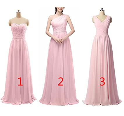 Z Womens Sexy A Line Ruffles Chiffon Bridesmaid Dresses Long Evening Prom Dresses Country