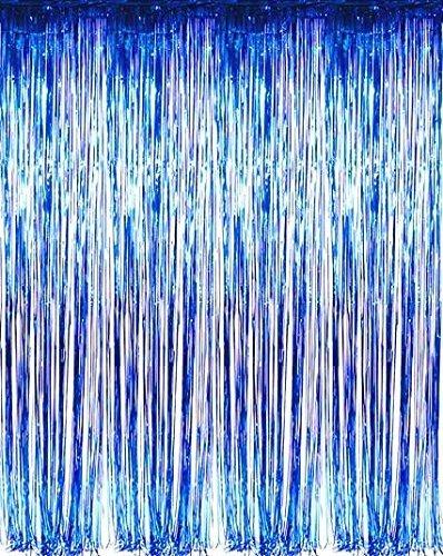 Set of 2 Shiny Metallic Foil Fringe Door u0026 Window Curtain Party Decoration (Blue)  sc 1 st  Amazon.com & Amazon.com: Set of 2 Shiny Metallic Foil Fringe Door u0026 Window ...