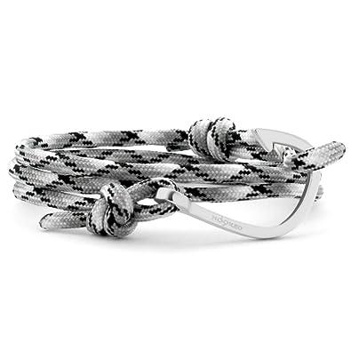 Hooked Hsr72 Damen Armband Haken Edelstahl Silber Schwarz Amazonde