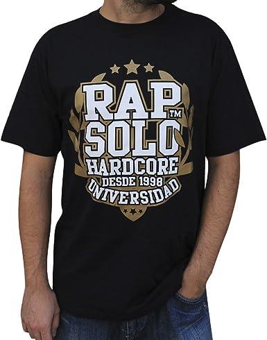 Camiseta RAPSOLO Universidad Negra Unisex, en algodón Color Negro: Amazon.es: Ropa y accesorios