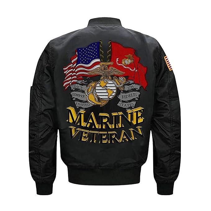 Amazon.com: US Marine Veteran MA-1 - Chaqueta de bomber ...
