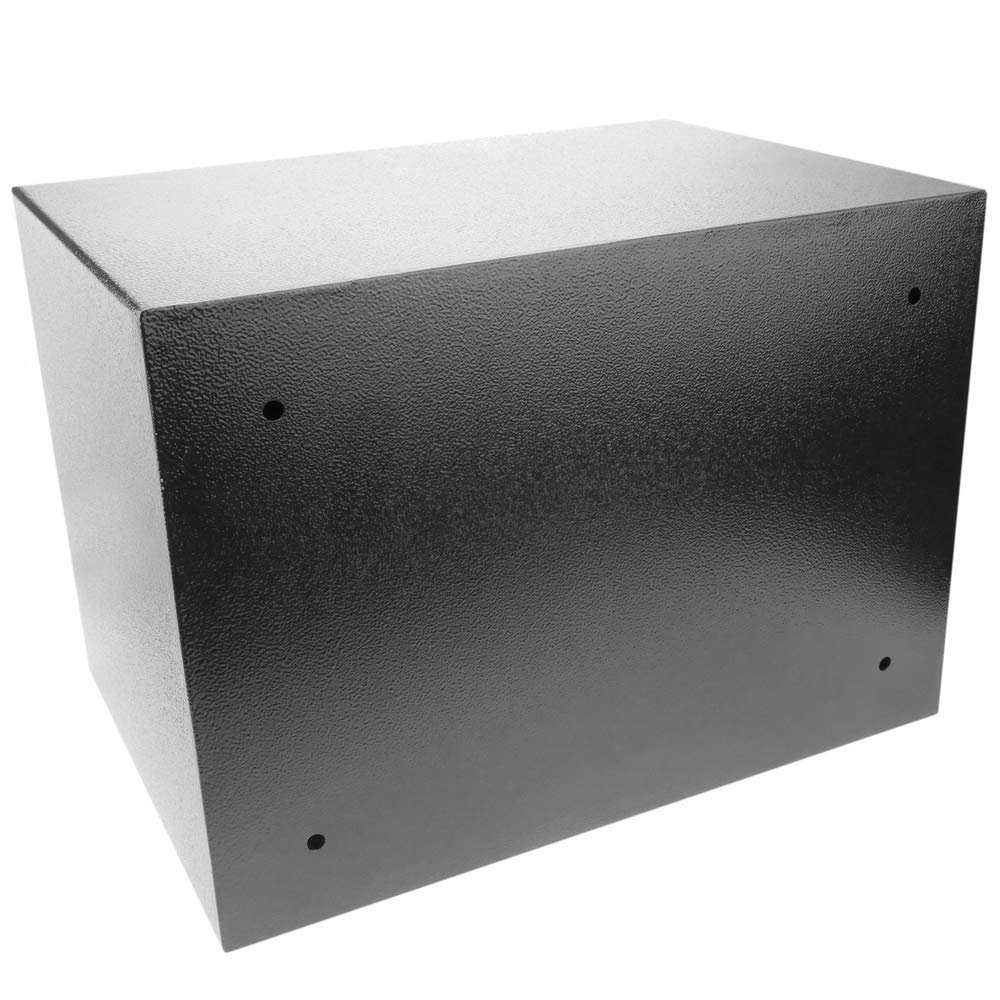 PrimeMatik Caja Fuerte de Seguridad de Acero con Llaves y Ranura 35x25x25cm Negra