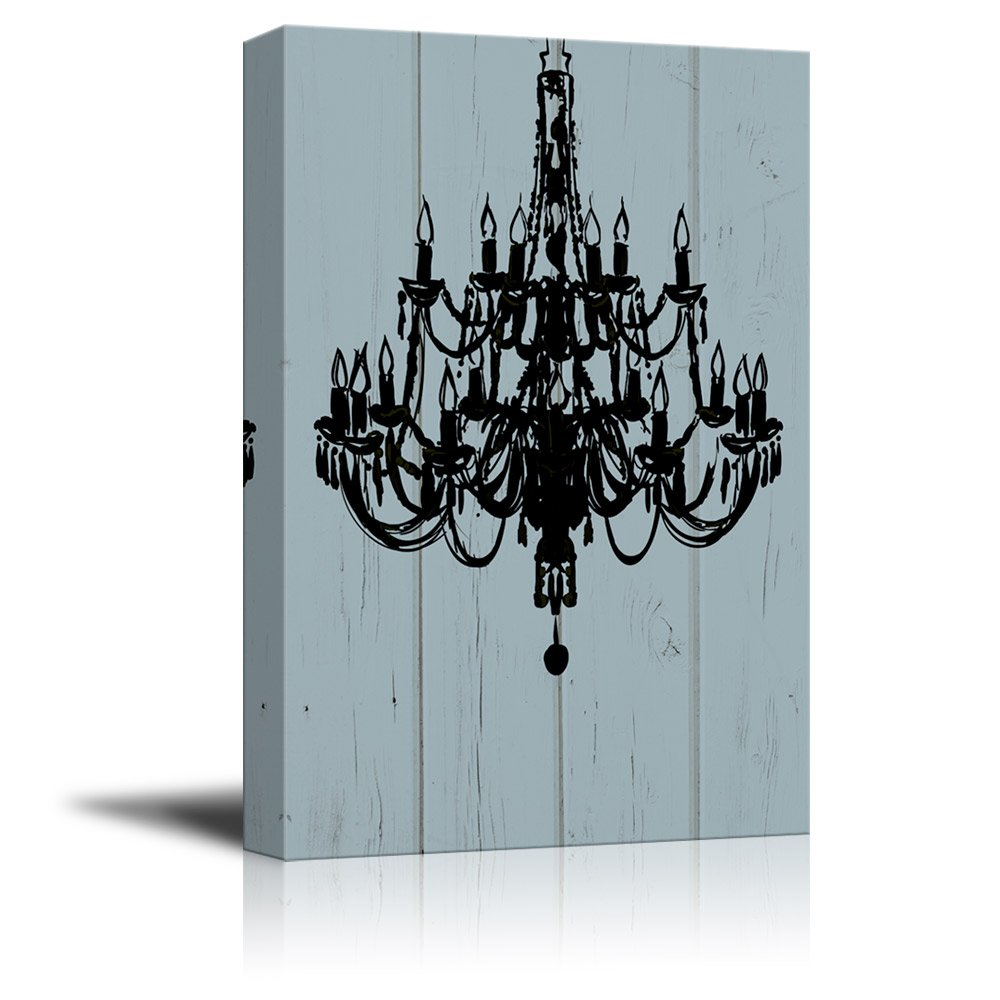 background home dp chandelier canvas com crystal ready art on and hang amazon white abstract blue giclee to wll stretched print vintage