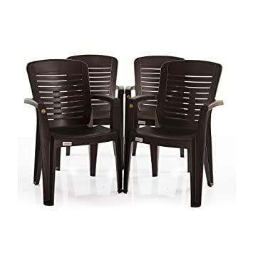 VARMROA Ergo Chair (Set of 4)(Dark Brown)