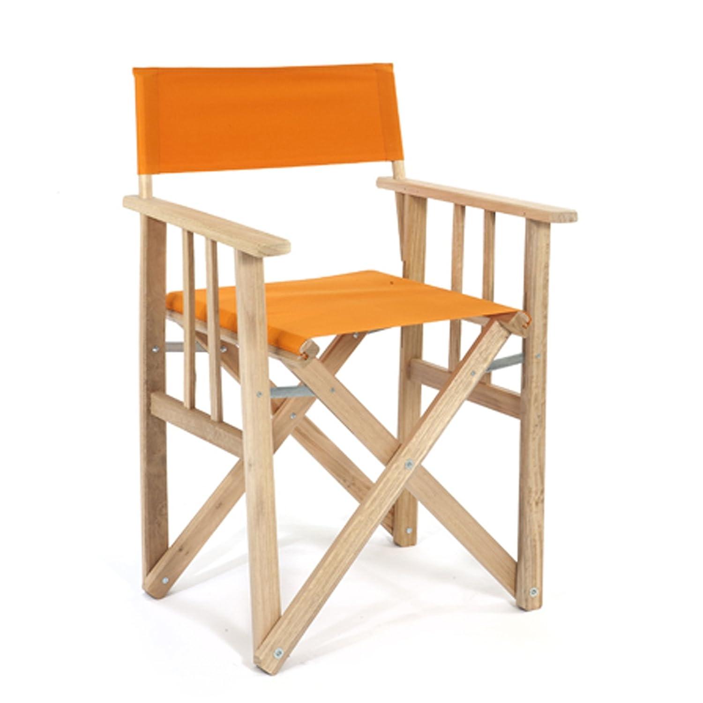 LONA 折りたたみ 木製 ディレクターチェア オレンジ 約53×47×H85cm 01.01.01.004 B01C9PII20 オレンジ オレンジ