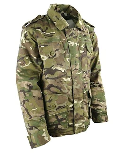 Mens Military Army Combat Recon Zip Fleece Trooper Sweat Shell Jacket Shark BTP