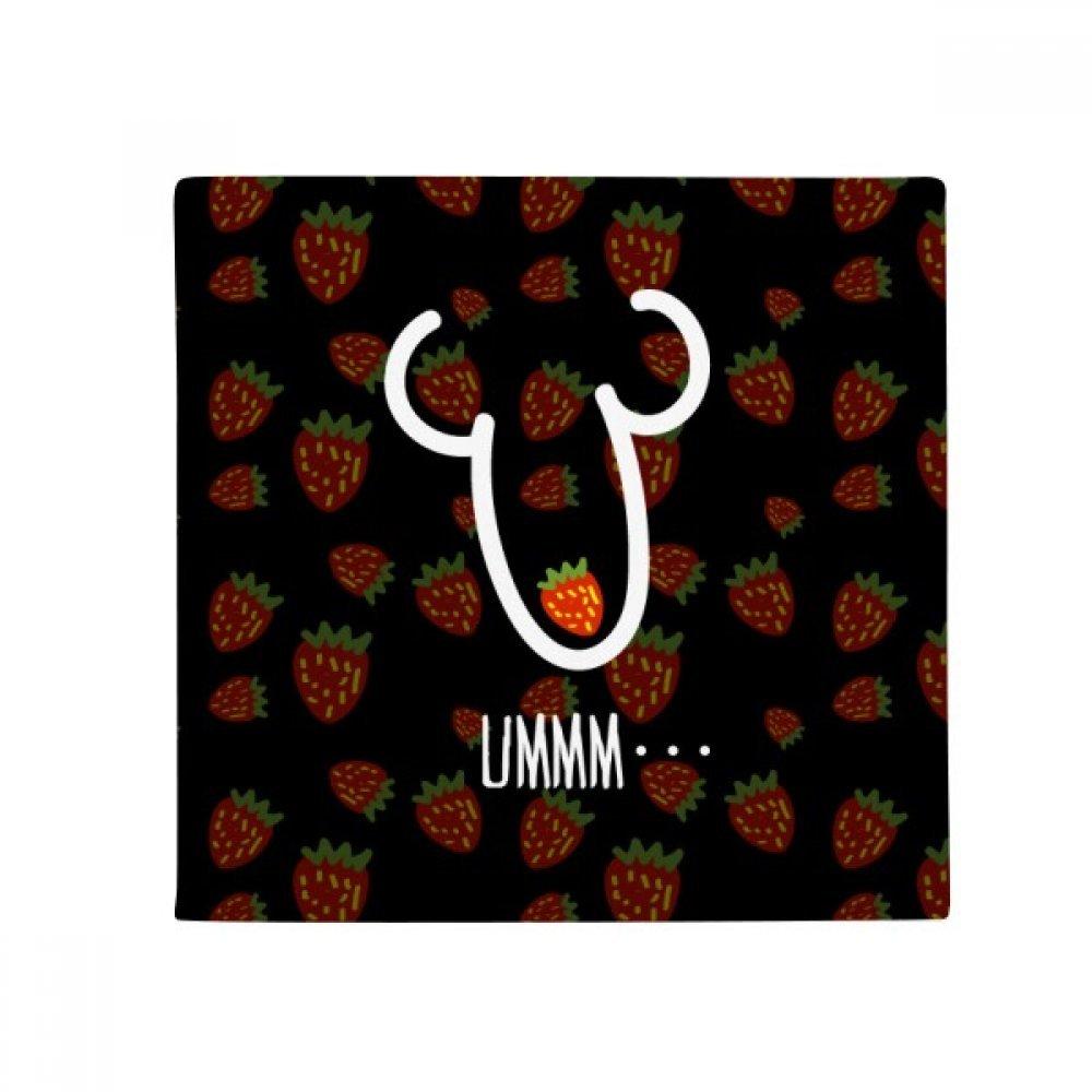DIYthinker Ummm Strawberry Funny Drawing Anti-Slip Floor Pet Mat Square Home Kitchen Door 80Cm Gift