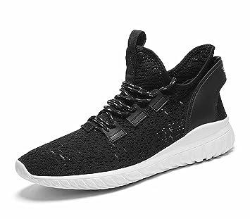 GLSHI Hommes Casual Sports Chaussures de course Été 2018 Nouvelles chaussures de mode coréenne Respirant Wild Shoes (Couleur : Blanc, Taille : 42)