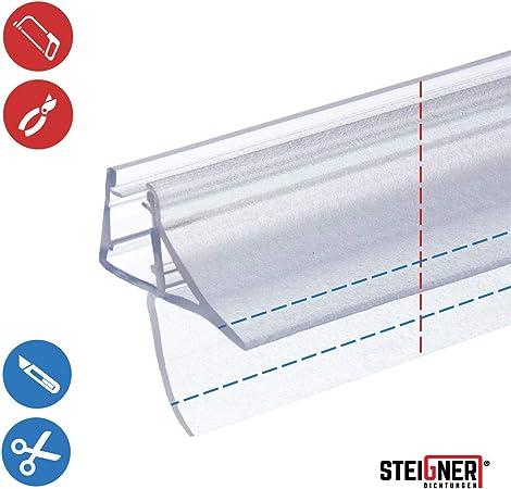 STEIGNER 80 cm Junta Repuesto Para el Vidrio 6mm/7mm/8mm Junta Vierteaguas de Ducha UK09 Protección Chorros Mamparas Ducha: Amazon.es: Bricolaje y herramientas