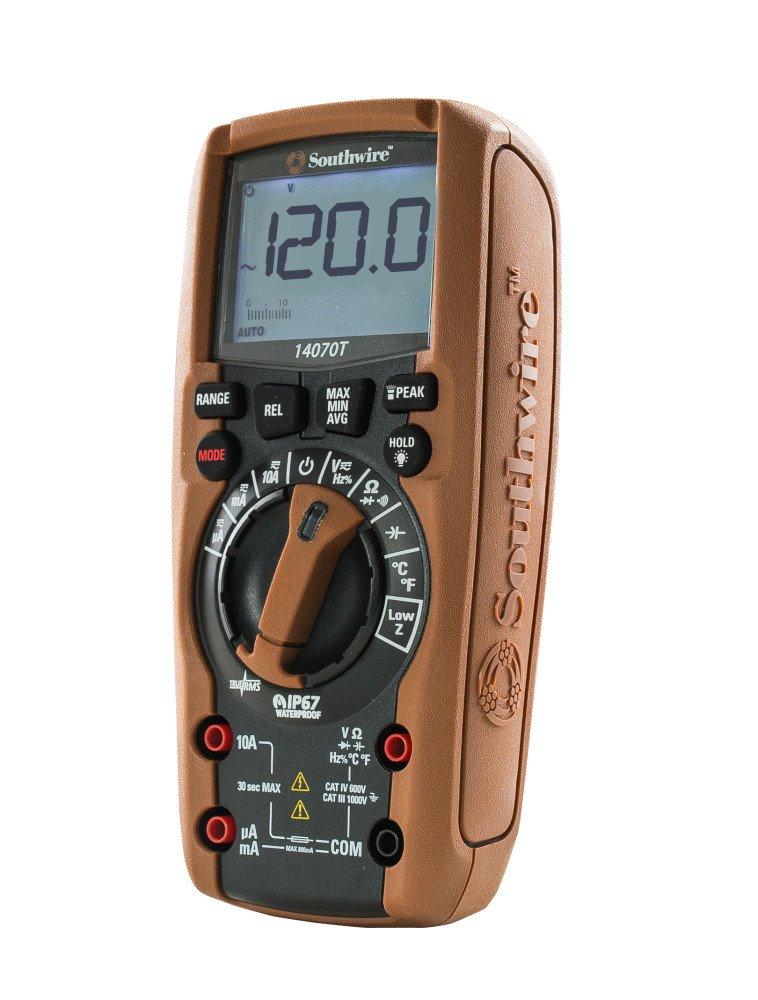 Southwire Tools & Equipment 14070T TechnicianPRO Auto-Ranging TrueRMS Digital Multimeter