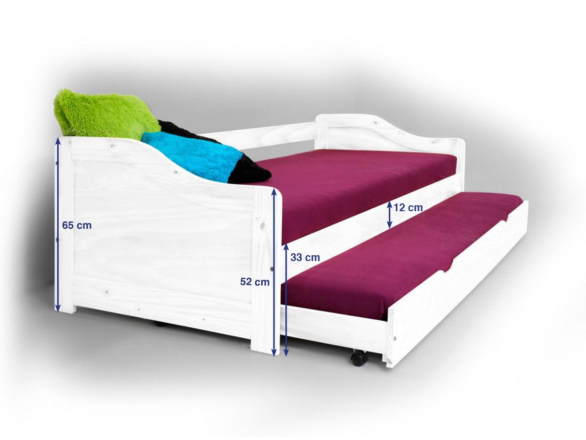 Bett mit bettkasten 90x200  Laura Funktionsbett Tandemliege Jugendbett und Kinderbett mit ...