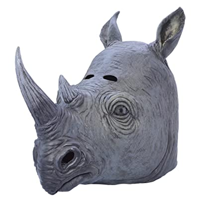 Bristol Novelty BM445 Rhino Mask, One Size: Toys & Games