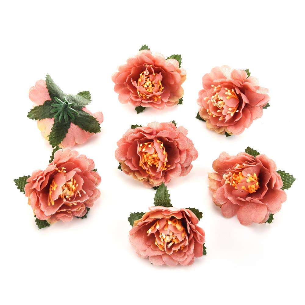 Csoudna 造花 クラフトデコレーション用 バルクミニローズクロス 造花 牡丹 桜 ウェディングパーティー ホームルーム 装飾 結婚式 靴 帽子 シルクフラワーデコレーション 30個 5cm ブラウン B07KLK5Q5V コーヒー