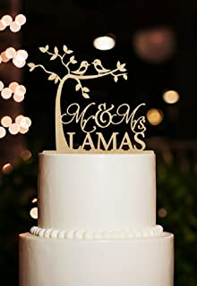 Mr Custom Name and Date Wedding Cake Topper And Mrs