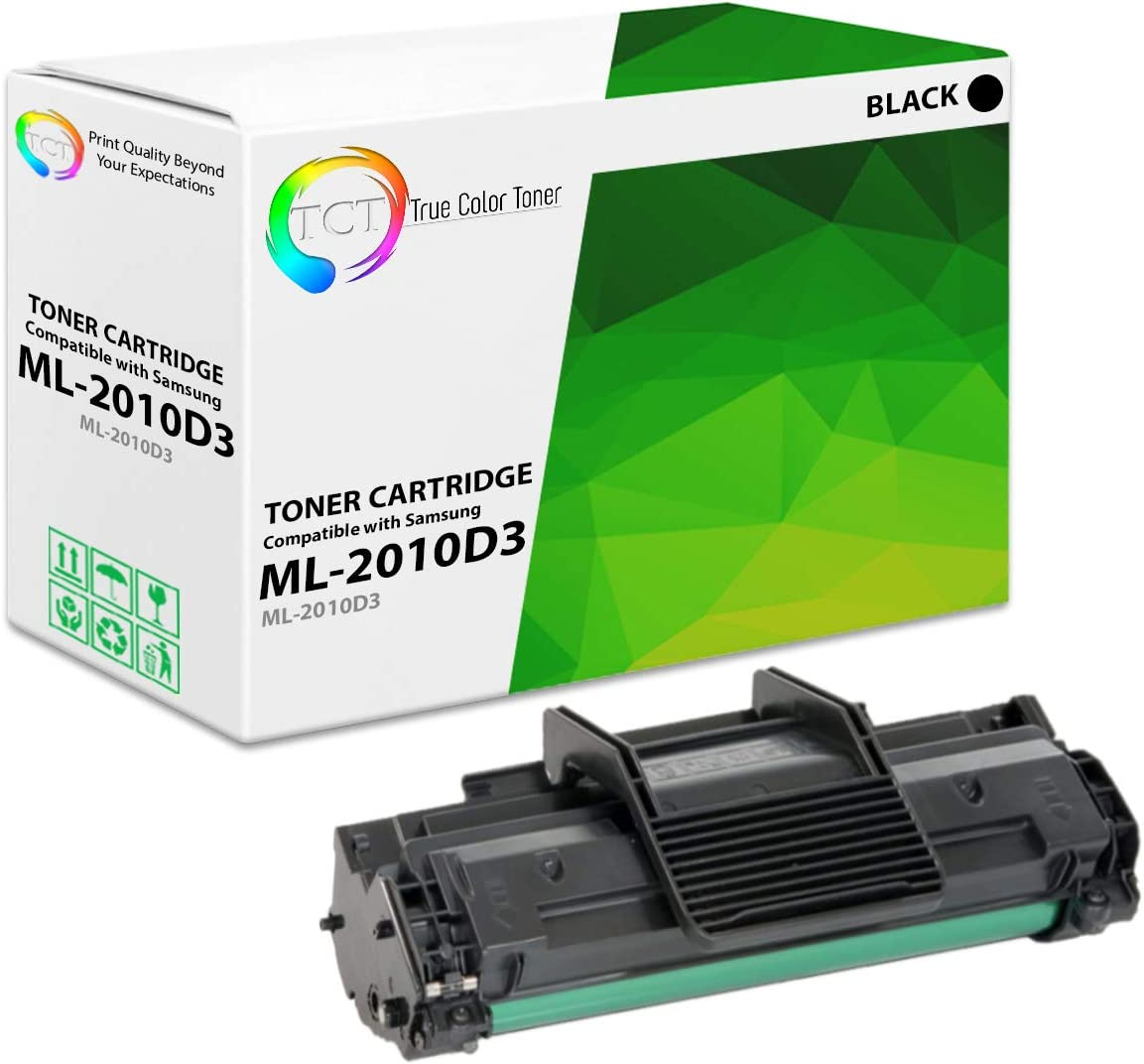 TCT Premium Compatible Toner Cartridge Replacement for Samsung ML-2010D3 Black Works with Samsung ML-2010 ML-2510 ML-2570 ML-2571N, SCX-4521F SCX-4521FG Printers (3,000 Pages)
