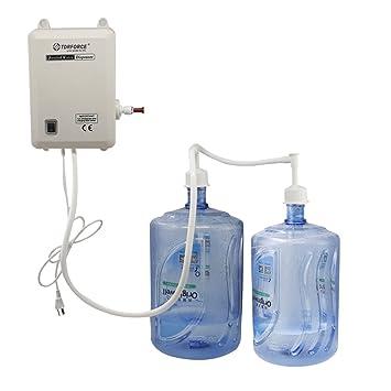 TDRFORCE Botella de tubo doble Sistema de bomba de dispensador de agua para máquina de café Ice-Maker 2.5L: Amazon.es: Hogar