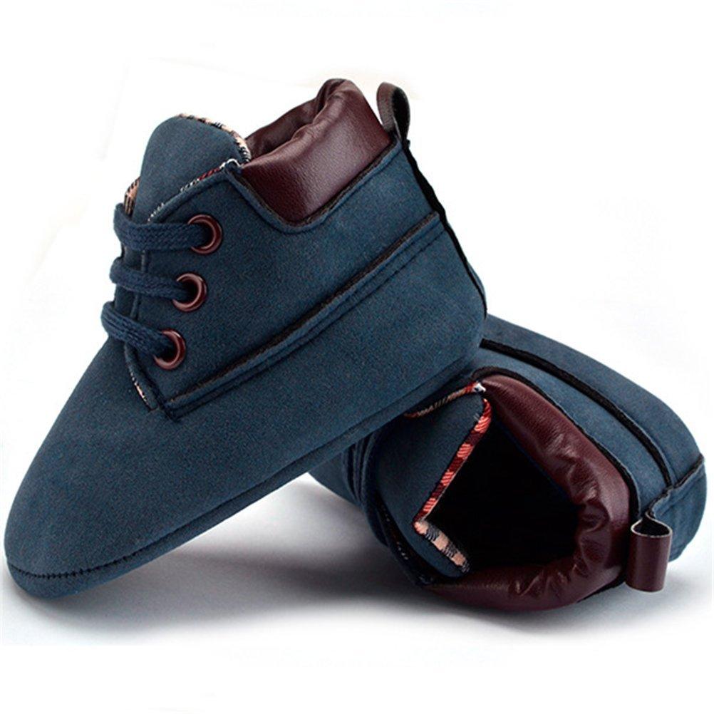 Hazane Baby Girls Sneaker Toddler Newborn Girls Anti-Slip Boots Crib Shoes Winter Boots Prewalker Warm Shoes 0-18 Months