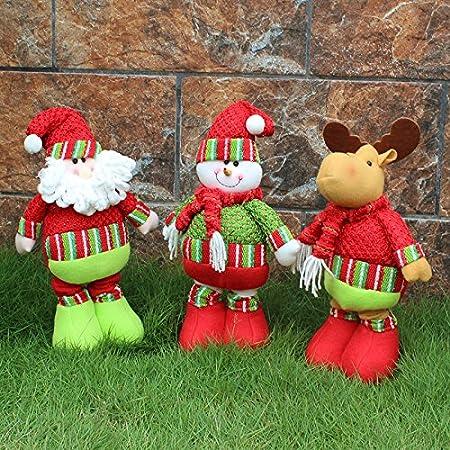 iplst @ Flexible de regalo de Navidad Papá Noel Muñeco de nieve ciervo muñecas Navidad adornos casa jardín para fiestas Decor, muñeco de nieve, Extend Height :51cm/20inch: Amazon.es: Hogar