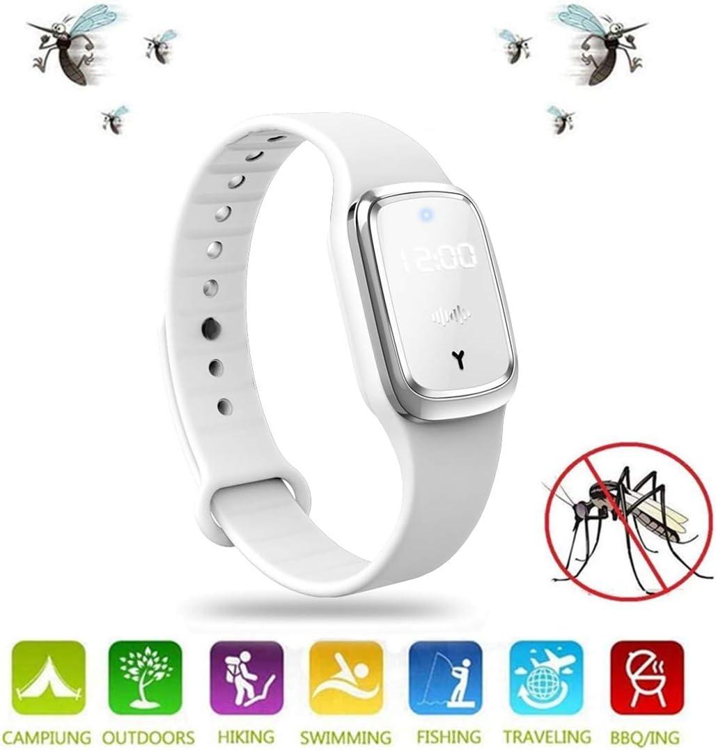 WZLOVE 2020 NEU Ultraschall Anti Mosquito Insect Pest Bugs Uhr Repellent Repeller Handgelenkarmband mit LED-Zeitanzeige Display mit USB Rechagerable f/ür Baby Kids und Erwachsene
