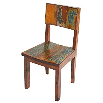 PoliVaz Reclaimed Boat Wood Dining Chair