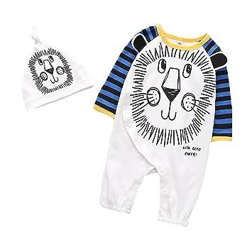 30aa4bdf5 Amazon.com  ALLAIBB Baby Boy Cotton Pajamas Footless Long Sleeve ...