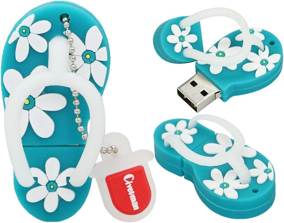 USB Flash Drive de 16GB Zapatillas Skyblue Forma USB 2.0 Novedad Pendrive Memory Stick Almacenamiento de Datos Thumb Drive U Disco Cool Datos de diseño para Escolares Estudiantes Niños Regalos