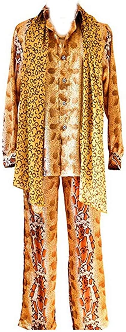 TISEA Mens Japanese Hot Song PPAP Uncle Pico Cosplay Costume
