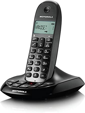 Motorola C1011 - Teléfono inalámbrico con contestador digital (12 min), color negro (importado): Amazon.es: Electrónica