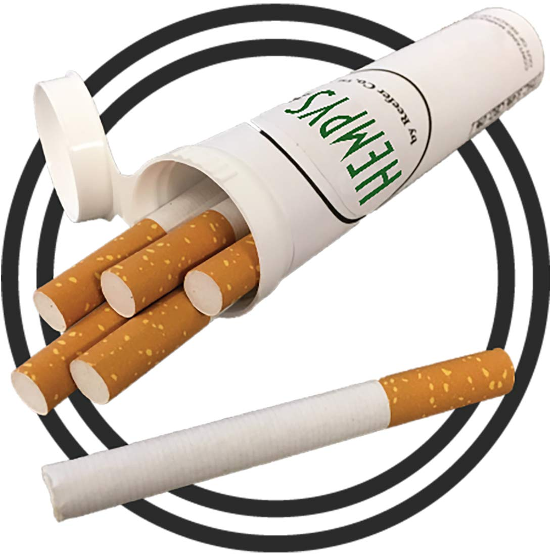 Premium Tobacco-Free Hempettes (15 Total Fresh Prerolled Herbal Smokes) by Hempys