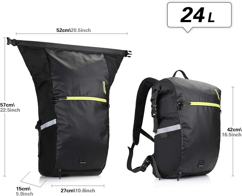 Huntvp 24L Bike Pannier Bag Backpack Multifunctional Bicycle Bag Cycling Bicycle Rear Seat Trunk Pack Bag Bike Saddle Bag Backseat Pack Bag